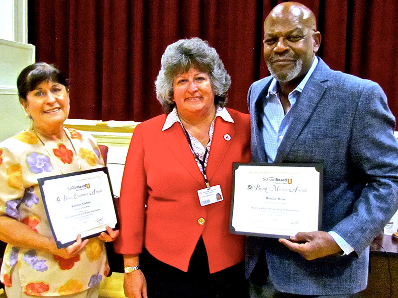 Board Members Honored by State Body