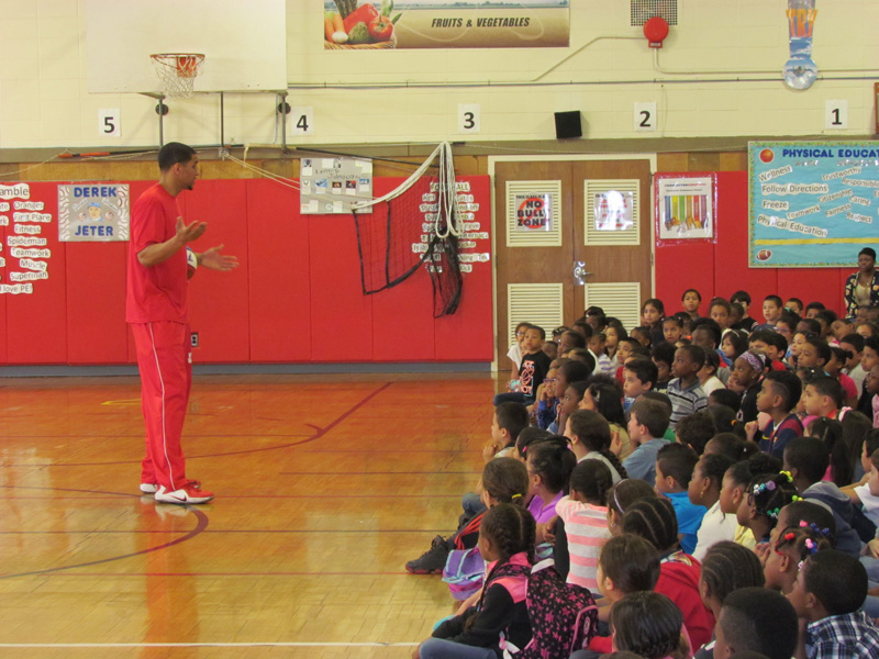Harlem Wizards Cast Spell on Amityville Students