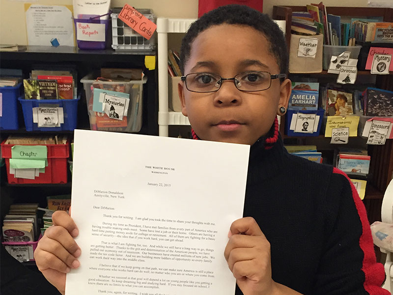 PAMES Student Receives Letter from President