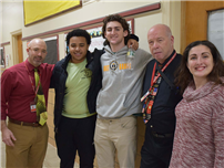Amityville, East Islip Students Create New Bonds photo