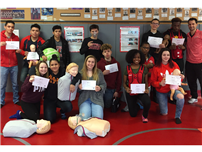 Students Trained to Save Lives