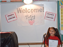 Northwest Students Share Poetry in a Café Setting Photo