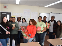 Amityville High School Students Play Santa photo