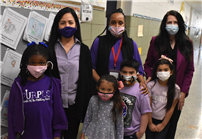 Students and staff wearing purple thumbnail183529